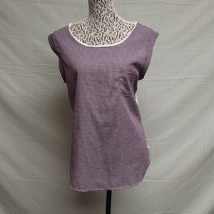 Purple and white new York and company blouse